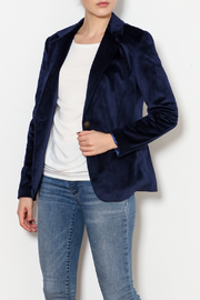 Insight Velvet One Button Blazer - Product Mini Image