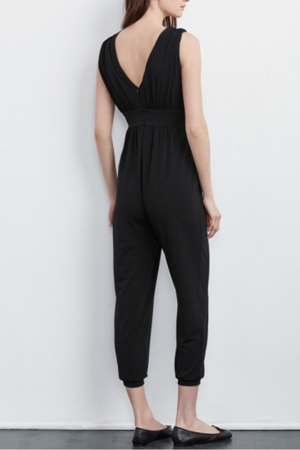 Velvet One Piece Jumpsuit - Front Full Image