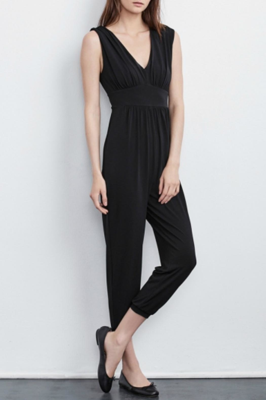 Velvet One Piece Jumpsuit - Front Cropped Image