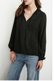 Velvet Peasant Tie Top - Product Mini Image