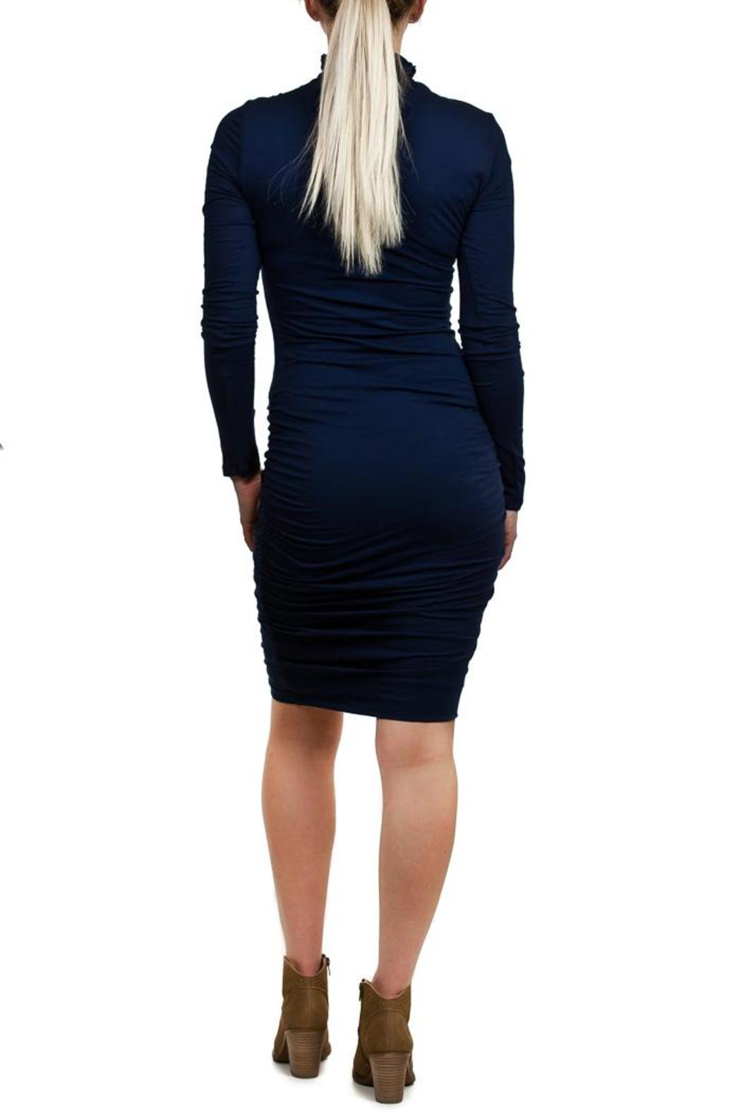 Velvet Pietro Turtleneck Dress - Side Cropped Image