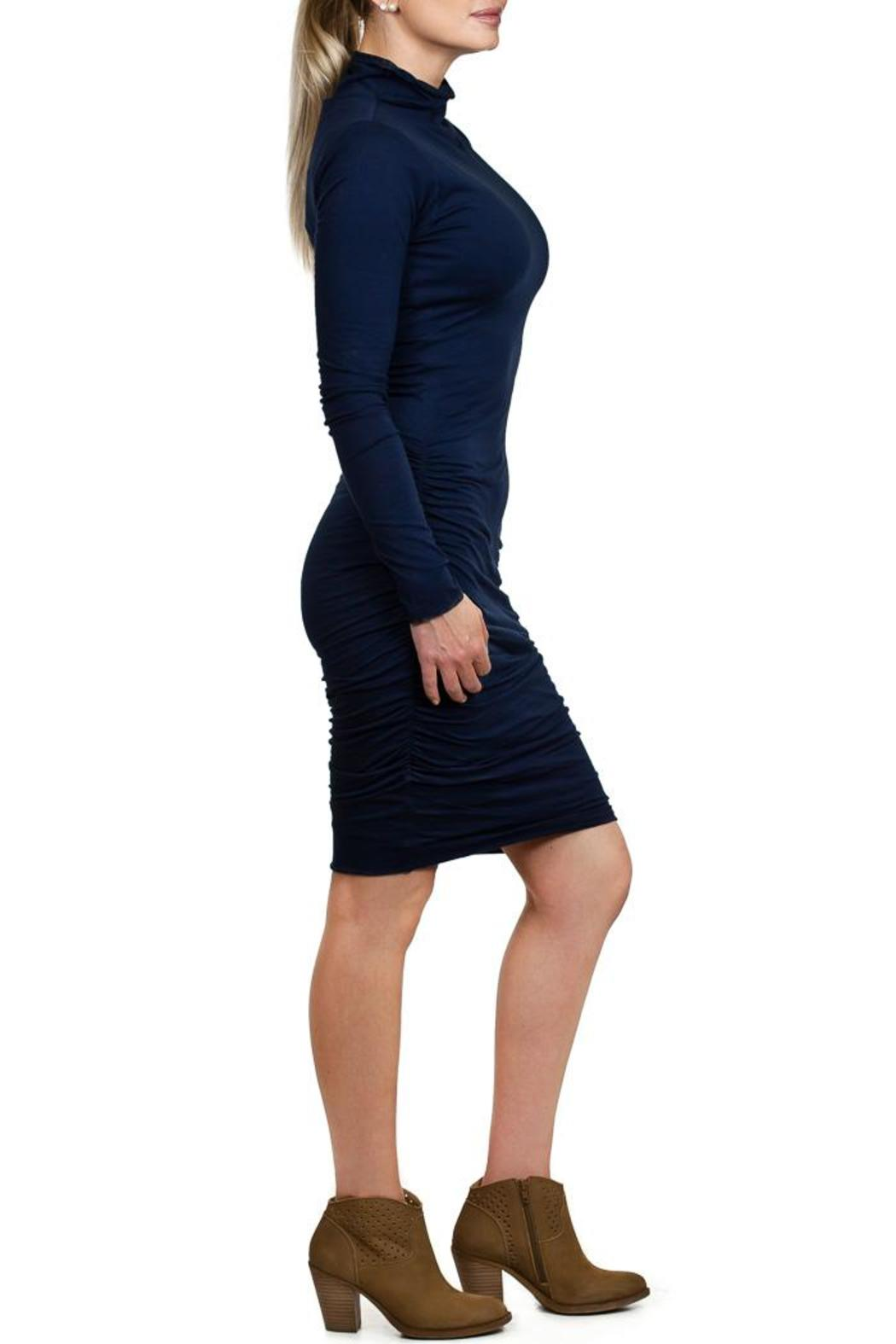 Velvet Pietro Turtleneck Dress - Front Full Image