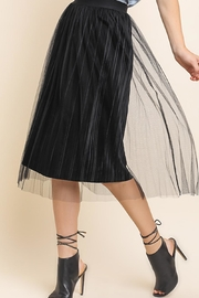 The Vintage Valet Velvet Pleated Skirt - Product Mini Image