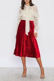 Vintage Christmas Gift Ideas for Women Velvet Pleated Skirt $58.00 AT vintagedancer.com