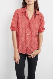 Velvet Button-Down Tunic Top - Product Mini Image