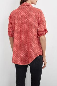 Shop online from pinkadot shoptiques for Red velvet button up shirt
