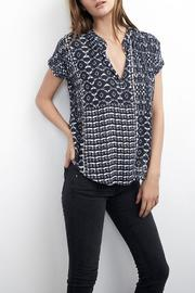 Shoptiques Product: Printed Cap-Sleeve Blouse