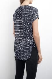 Shoptiques Product: Printed Cap-Sleeve Blouse - Front full body