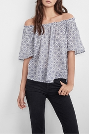 Velvet Printed Cotton Blouse - Product Mini Image