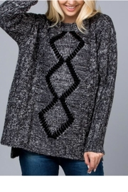 GeeGee Velvet Ribbon Sweater - Product Mini Image