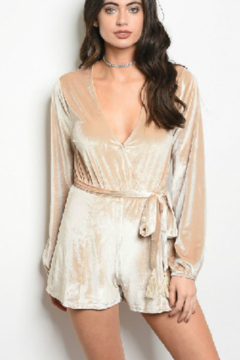 Honey Punch Velvet Romper - Product List Image