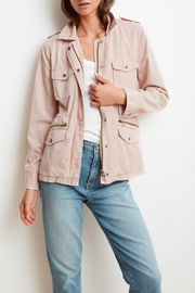 Velvet Ruby Army Jacket - Front cropped