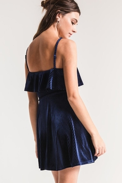 Black Swan Velvet Ruffle Dress - Alternate List Image