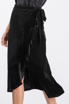 Bibi Velvet Ruffled Wrap Midi Skirt - Alternate List Image