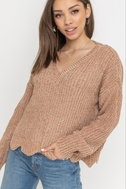 Lush  Velvet Scallop Sweater - Product Mini Image
