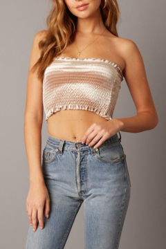 Abeauty by BNB Velvet Smocked Crop Top - Product List Image