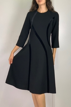 Mossaic Velvet Trim Dress - Product List Image