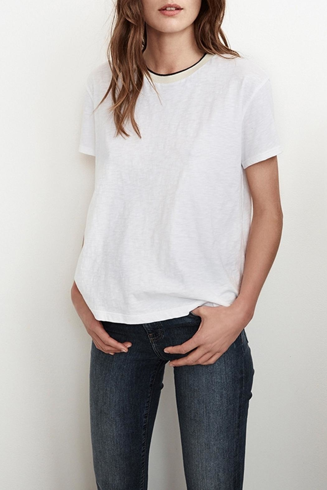 Velvet Tristan Cotton Tee - Front Cropped Image