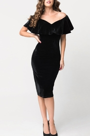 Unique Vintage Velvet Wiggle Dress - Product Mini Image