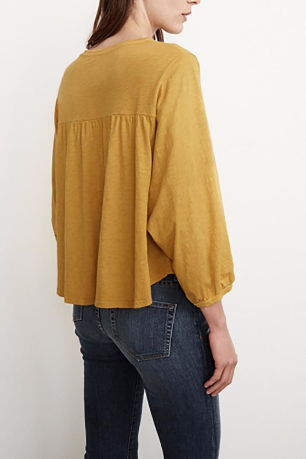 Velvet Winnah Cotton Slub Top - Front Full Image