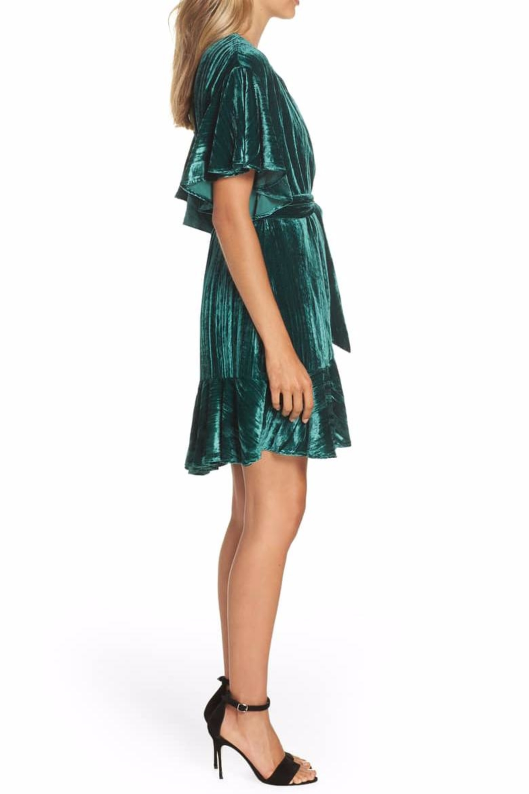 BB Dakota Velvet Wrap Dress - Front Full Image