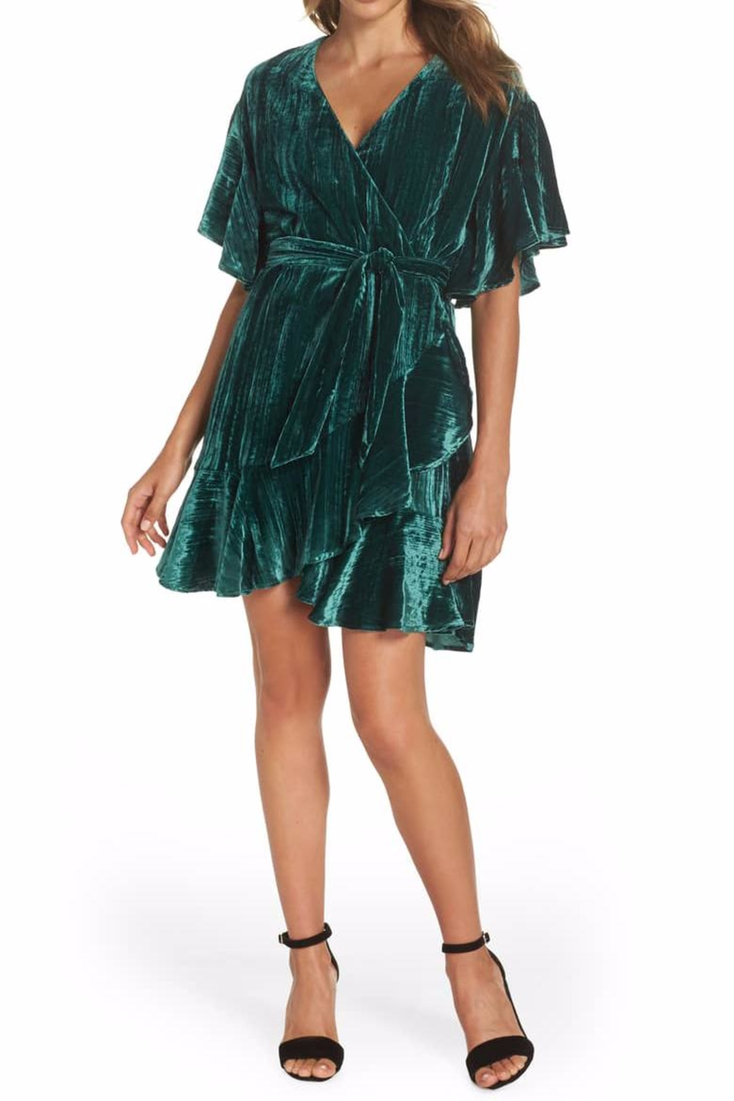 BB Dakota Velvet Wrap Dress - Main Image