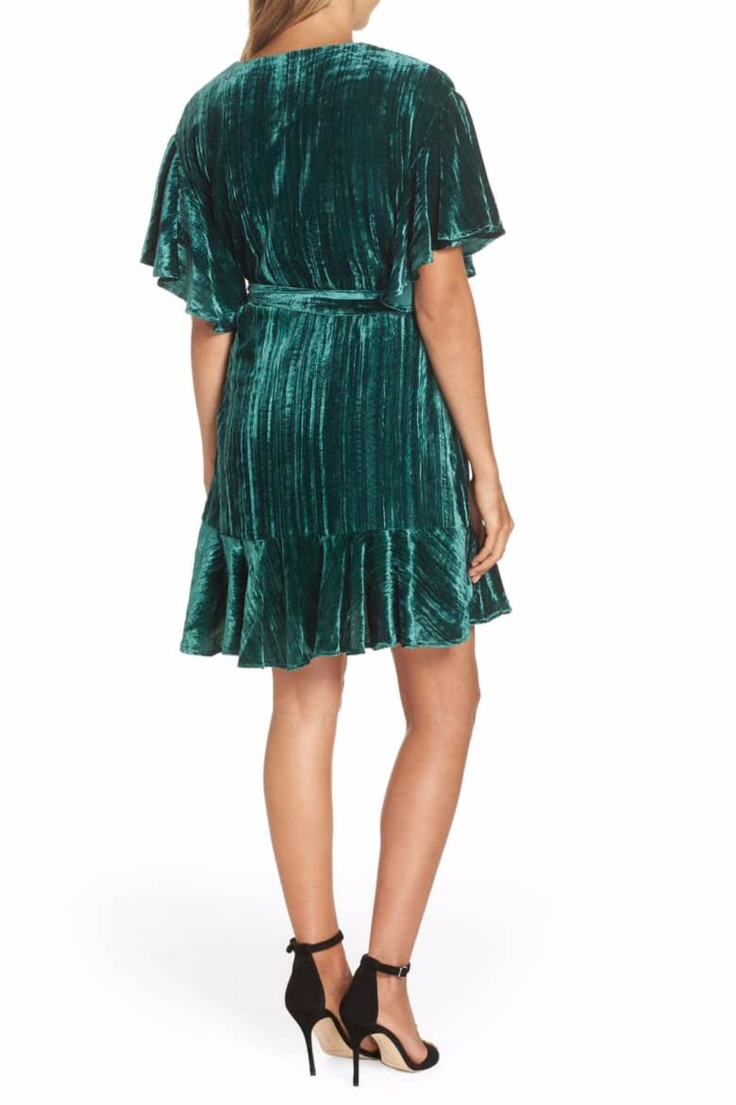 BB Dakota Velvet Wrap Dress - Side Cropped Image