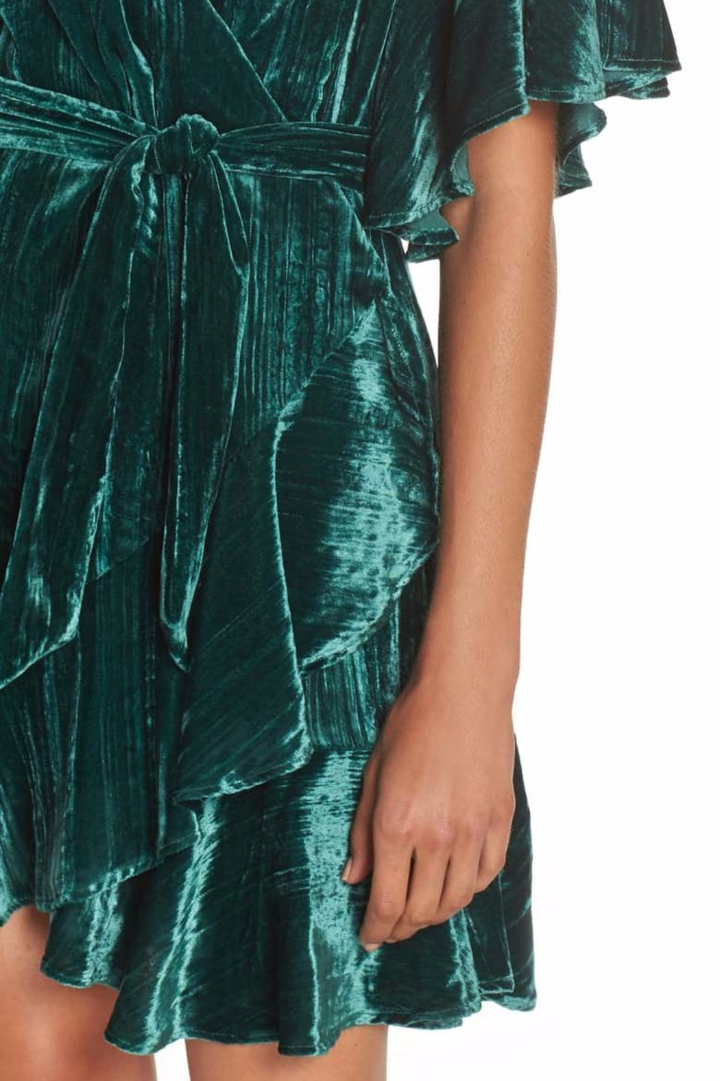 BB Dakota Velvet Wrap Dress - Back Cropped Image