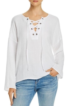 Velvet Yasmine Lace-Up Top - Product List Image