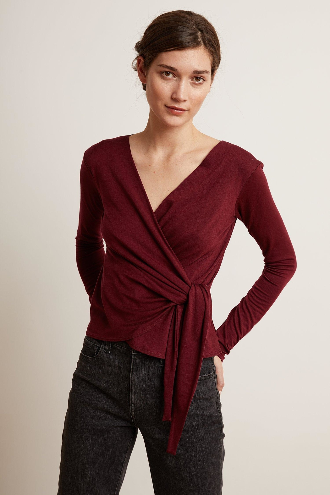 Velvet by Graham and Spencer Janessa Wrap Top - Main Image