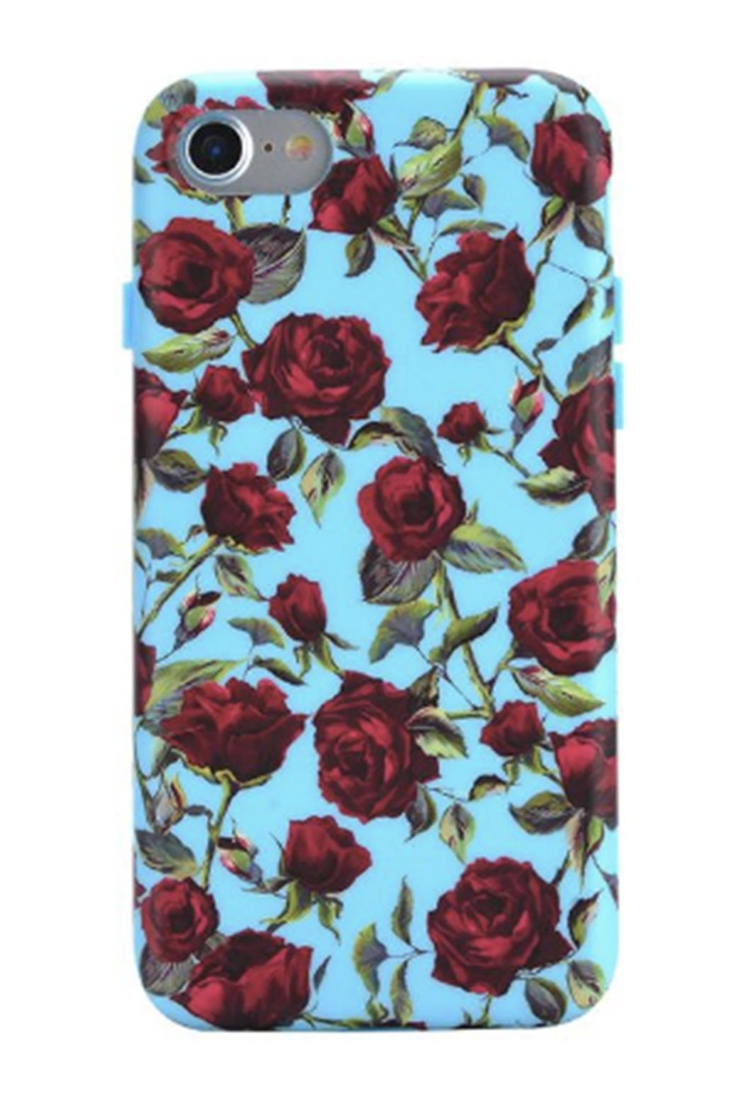 Velvet Caviar Blue Roses Iphone7plus - Front Cropped Image