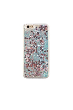 Shoptiques Product: Turquoise Hearts Iphone7/8