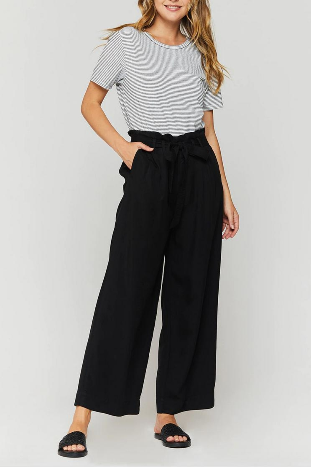 Velvet Heart Amandine Paperbag Pant - Front Cropped Image