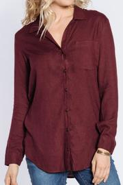 Velvet Heart Button Up Flannel Top - Product Mini Image