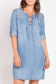 Velvet Heart Denim Dress - Product Mini Image