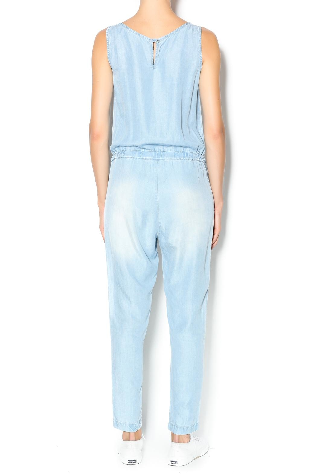 Velvet Heart Denim Jumpsuit - Front Full Image
