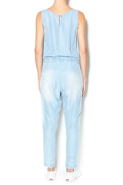 Velvet Heart Denim Jumpsuit - Front full body