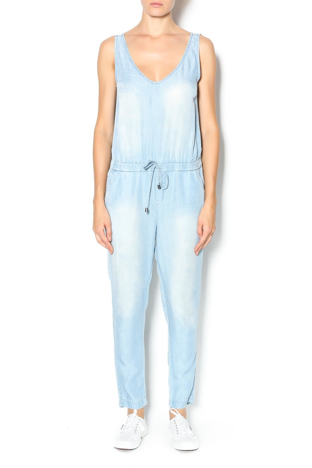 Velvet Heart Denim Jumpsuit - Main Image