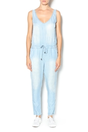 Velvet Heart Denim Jumpsuit - Product Mini Image