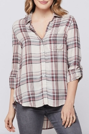Velvet Heart Elisa Plaid Button-Up - Front cropped