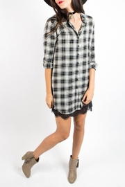 Velvet Heart Plaid Dress - Front cropped