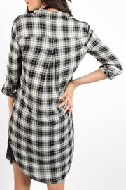 Velvet Heart Plaid Dress - Side cropped