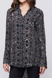 Velvet Heart Snake Skin Blouse - Product Mini Image