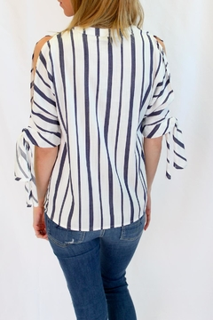 Velvet Heart Stripe Print Blouse - Alternate List Image