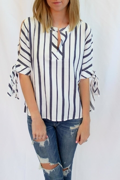 Velvet Heart Stripe Print Blouse - Product List Image