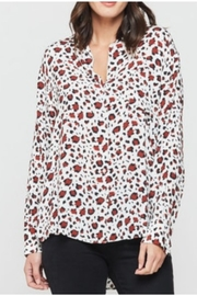 Velvet Heart White/brick Leopard Blouse - Product Mini Image