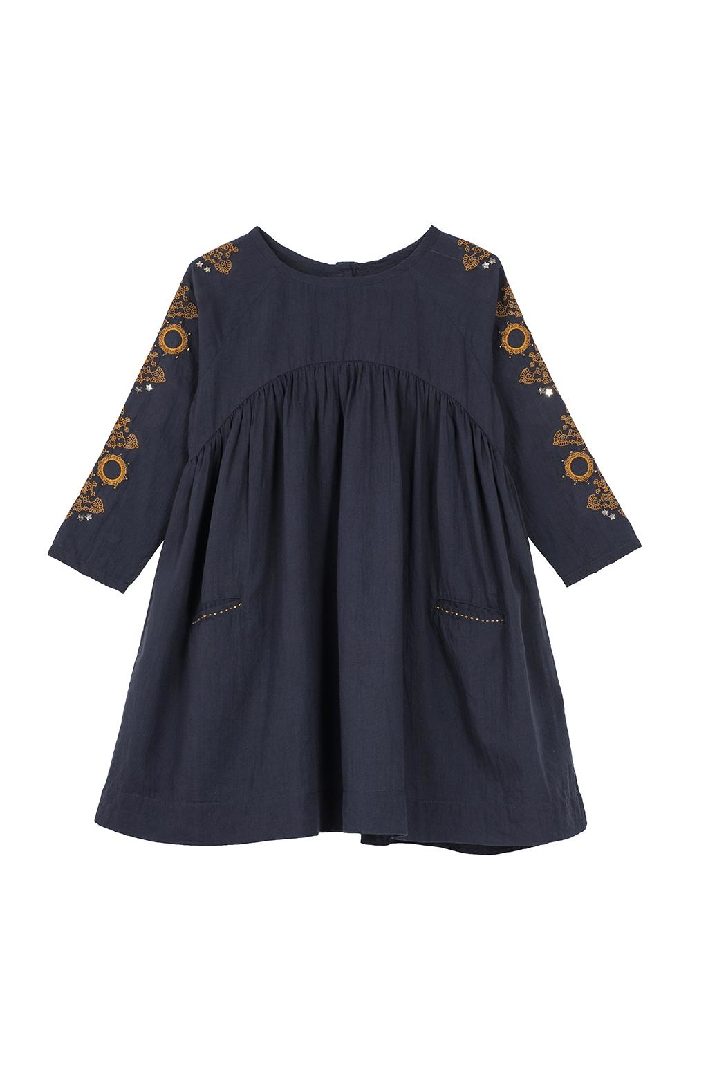Velveteen Madeline Dress - Front Cropped Image