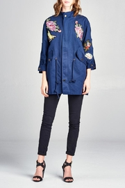 Velzera 3/4-Sleeve Embroidered Jacket - Product Mini Image