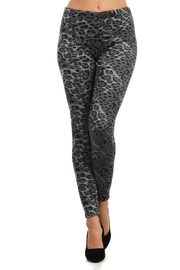 Velzera Black-Gray Jaguar Leggings - Product Mini Image