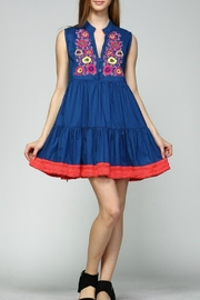 Velzera Blue Beaded Dress - Product Mini Image